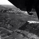 Vista  aérea desde la Cigüeña, del Campo de Vuelo (Llanes