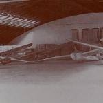 El excelenta hangar de la Escuela de Llanes de 3.000m cuadrados el cual contaba con carpintería y capilla con altar y todo para decir la misa de la patrona Virgen de Loreto