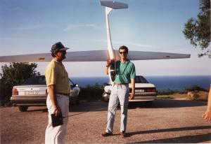 Luis Gil y yo en pista de Llanes buenos recuerdos