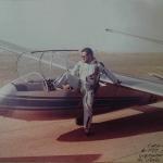 Vicente montando en  Blanik para volar1